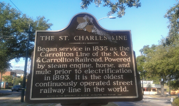 Streetcar Line Sign for St. Charles Ave & Carrolton